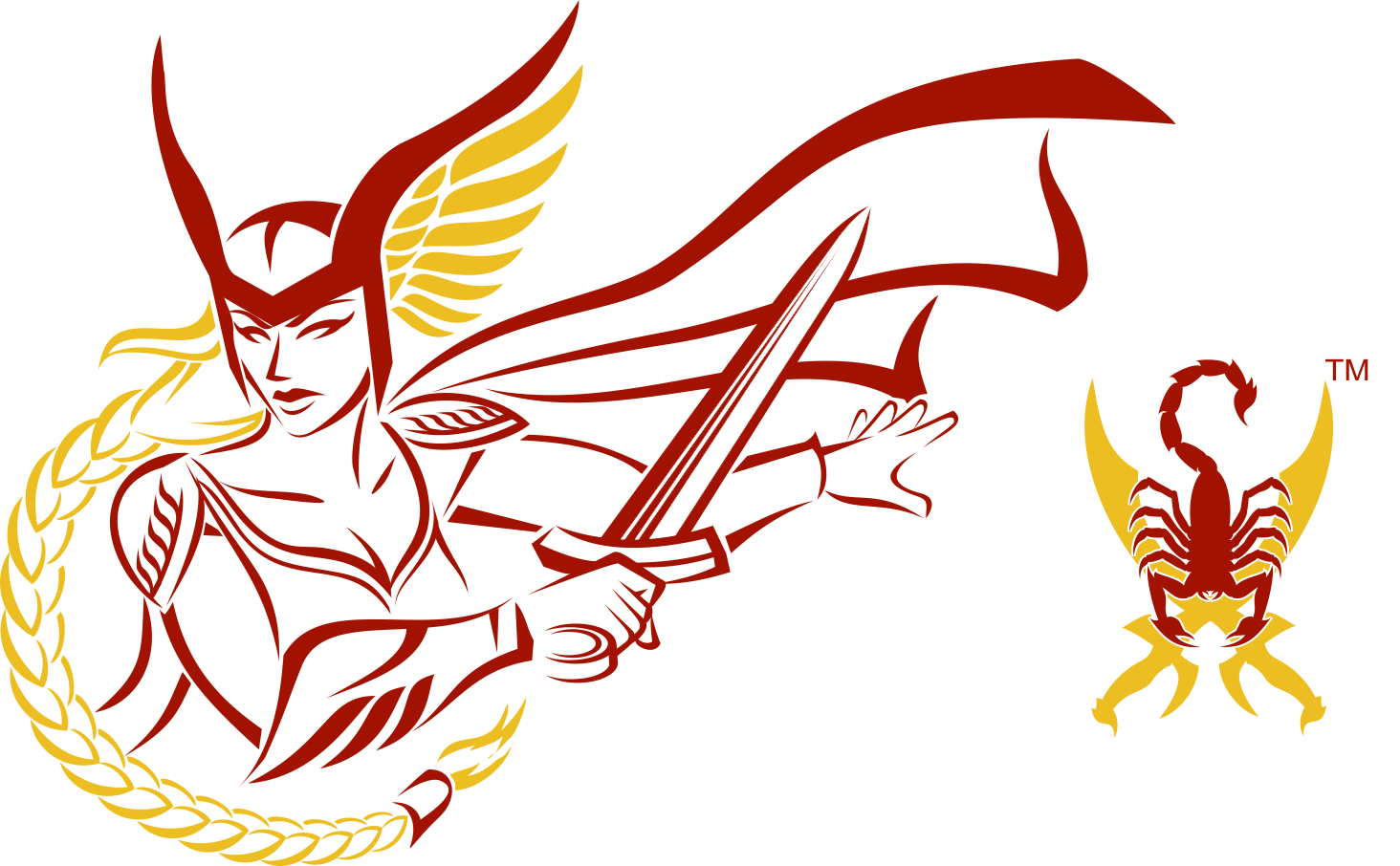Valkyrie & Saber-Scorpion Logo Graphics (Corel Draw)