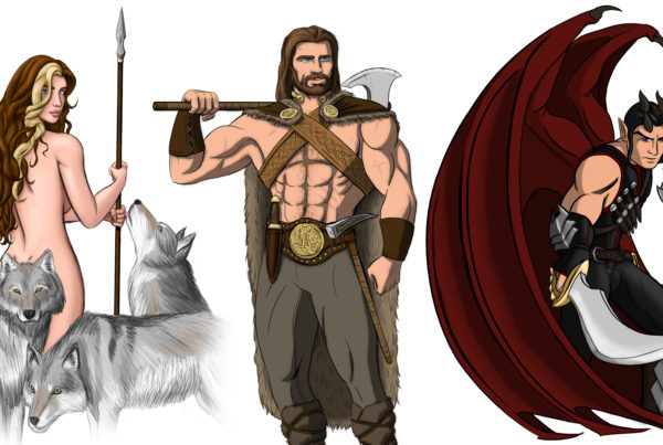Character Illustrations for Wulfgard, Digital (Photoshop)